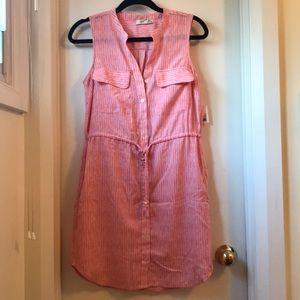 Pink/red pattern dress